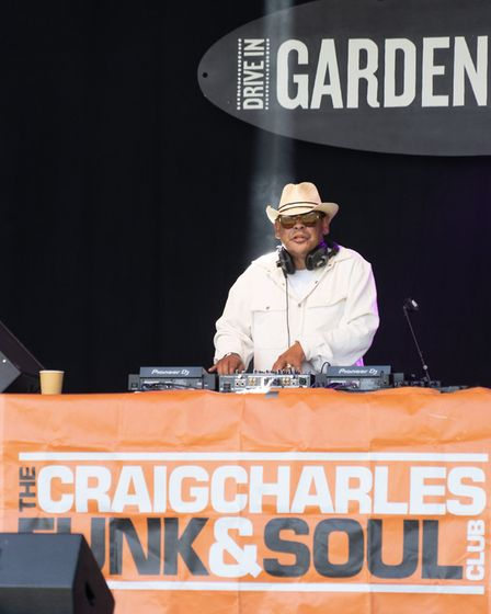 Craig Charles at Pub in the Park's drive in Garden Party at Knebworth House. Picture: Robert James R