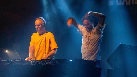 Basement Jaxx at Pub in the Park's drive in Garden Party at Knebworth House. Picture: Robert James R