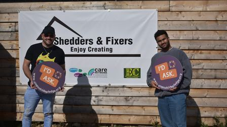 James Archer (L) and Rishal Patel (R) pictured at an event in Wisbech to raise awareness of men's su