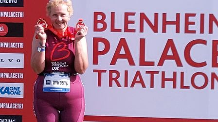 Sarah Rippon took part in the Blenheim Palace triathlon to raise funds for Bloodwise. Picture: SUPPL