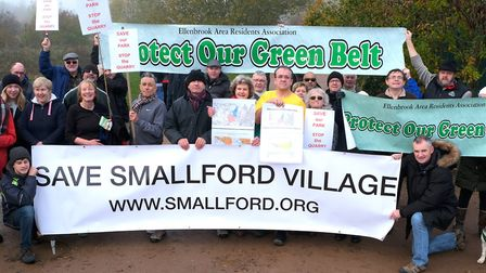 Ellenbrook and Smallford residents associations oppose the quarry. Picture: Michael Howarth.