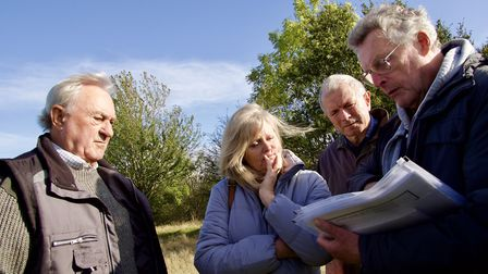 Ellenbrook playing fields discussion with former MP Anne Main and residents. Picture: John Andrews.