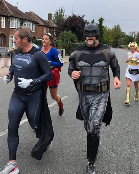 Team of superheroes, from Superman to Wonder Woman, fly through Wisbech and five surrounding village