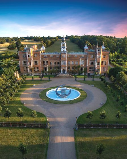Hatfield House from the air