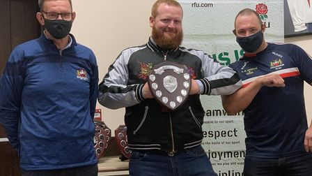 Sean Hawthorne (centre) won the most improved player award for the Wildcats. Picture: WISBECH RUGBY