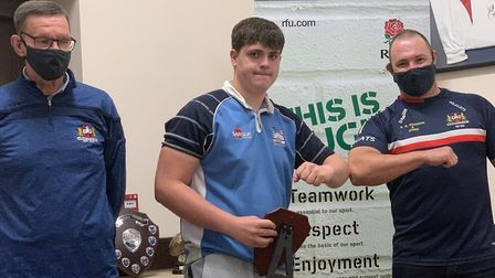 Jack Obey (centre) was named under 18 colts player of the year. Picture: WISBECH RUGBY CLUB