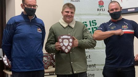 Tom Goude (centre) was crowned Wildcats' player's player of the year. Picture: WISBECH RUGBY CLUB