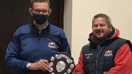 Dave Dobson (left), secretary of Wisbech Rugby Club, was presented with the clubman of the year awar