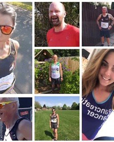 Members of Three Counties Running Club are gearing up to take on the virtual London Marathon. Pictur