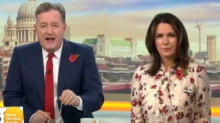 Picture of Good Morning Britain presenters Piers Morgan (L) and Susanna Reid