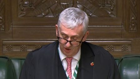 A picture of House of Commons speaker Sir Lindsay Hoyle