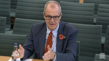 Chief scientific adviser Sir Patrick Vallance giving evidence to the Science and Technology Select C