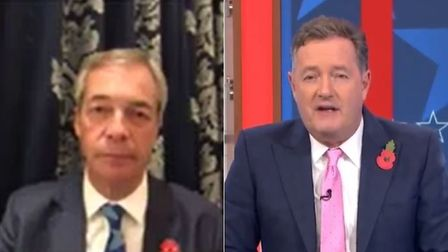 Picture of Piers Morgan and Nigel Farage of Good Morning Britain