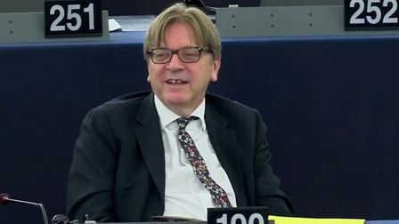 """Guy Verhofstadt's reaction to being called """"Darth Vader"""" by Brexit Party MEP Martin Daubney in the E"""