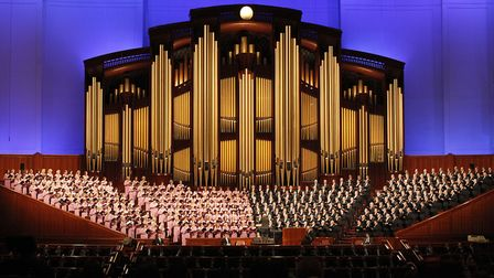 UNIQUE: The world-renowned Mormon Tabernacle Choir perform in Salt Lake City. Photo: Getty Images
