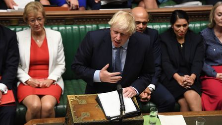 Boris Johnson in the House of Commons. Photograph: UK Parliament/Jessica Taylor.