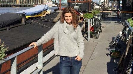 Jo Cox pictured by husband Brendan at their houseboat in Wapping before she was killed