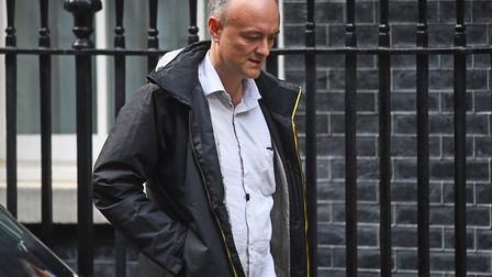 Senior aide to the prime minister Dominic Cummings leaves 10 Downing Street. Photograph: Kirsty O' C