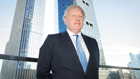 Prime Minister Boris Johnson in New York after judges at the Supreme Court ruling. Photograph: Stefa