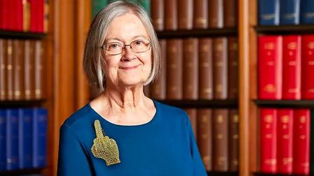 Lady Hale, pictured, probably does not own this brooch. Picture: Chris Barker