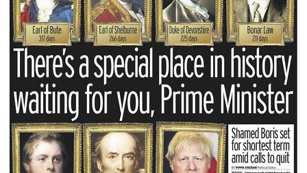 Front page of the Mirror. Photograph: Twitter.