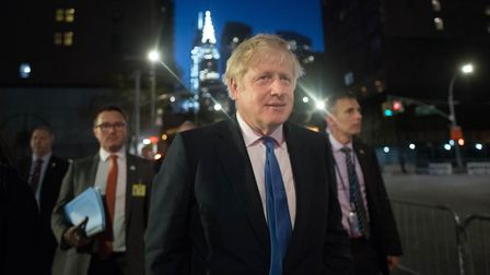 Prime minister Boris Johnson following the decision at the Supreme Court ruled that his advice to th