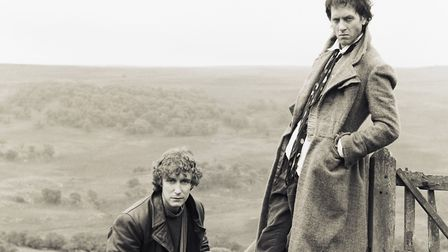 English actor Paul McGann and South African actor Richard E. Grant on the set of Withnail & I, direc