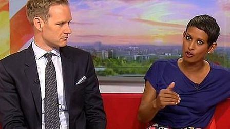 The BBC's Naga Munchetty. Photograph: BBC.