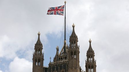 A union flag flying from the Houses of Parliament in Westminster. Photograph: Jonathan Brady/PA Wire