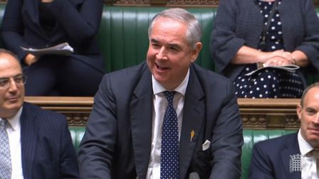 Attorney General Geoffrey Cox addresses the House of Commons. Photograph: House of Commons/PA Wire.
