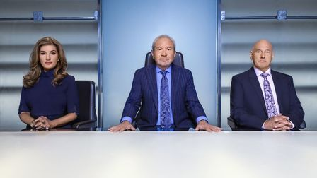 Karren Brady, Lord Sugar and Claude Littner in the boardroom ahead of this year's BBC One contest, T
