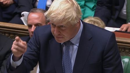 Prime Minister Boris Johnson speaks in the House of Commons. Photograph: House of Commons/PA Wire.