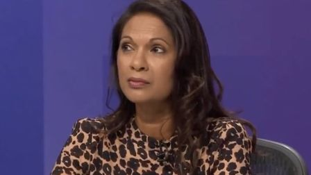Gina Miller appears on BBC's Question Time. Photograph: BBC.