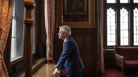 British politician, John Bercow MP, speaker of the House of Commons poses for a portrait inside the