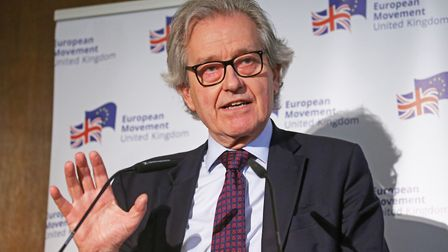 Stephen Dorrell at an event to discuss the future of British politics at the Church House in Westmin