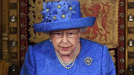 Britain's Queen Elizabeth II delivers the Queen's Speech during the State Opening of Parliament. Pho