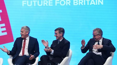 (left to right) Brexit secretary Stephen Barclay, Leader of the House of Commons Jacob Rees-Mogg an