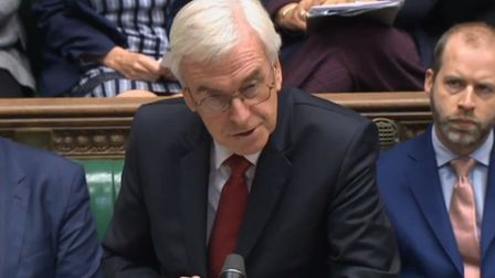 Shadow chancellor asks an urgent question in the House of Commons.