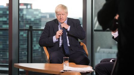 Prime Minister Boris Johnson prepares to appear on the BBC's Andrew Marr show. Photograph: Stefan Ro