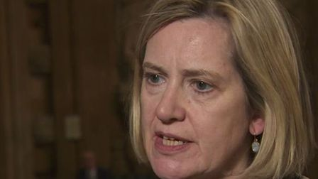 Amber Rudd spoke about keeping a no-deal option on the table on Newsnight. Picture: BBC