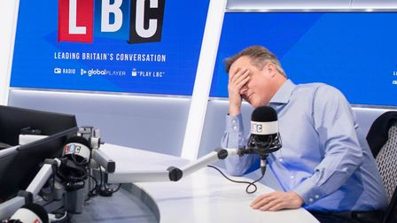 Former prime minister David Cameron during a radio interview. Photograph: Stefan Rousseau/PA.