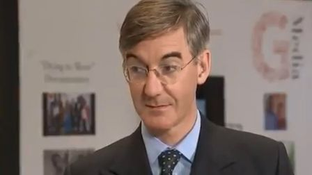 Jacob Rees-Mogg appears on Channel 4 News. Photograph: Channel 4.