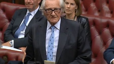 Michael Heseltine in the House of Lords. Photograph: Parliament TV.