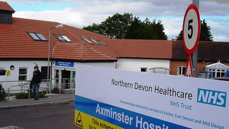 Axminster Hospital where some minor surgical cases are set to be axed.