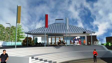An architect's impression ofwhat Seaton's Jurassic Coast Visitor Centre could look like. Designs for