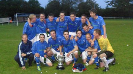 Feniton after their Morrison Bell final victory over Budleigh Salterton.