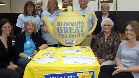 Chairman of the new Axminster fundraising group for Marie Curie Sandy Sinclair and nurse Jenny Patto