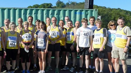 The AVR runners at the Umborne Ug event