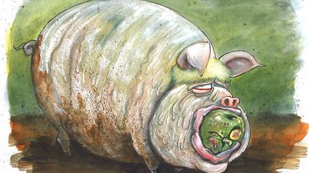 Boris Johnson seems to be happy as a pig in....Picture: Martin Ronson