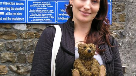 From Russia with Love: Nicolai with his owner Elena Karchenko pictured outside Allhallows Museum.